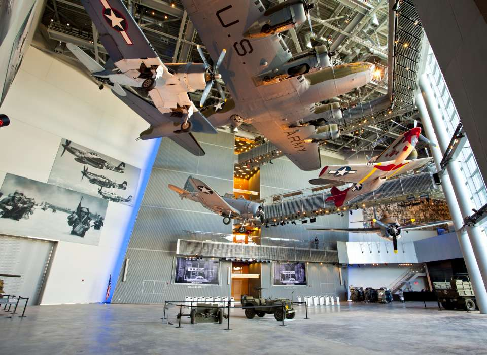 Underbelly of My Gal Sal and P-51 in US Freedom Pavilion