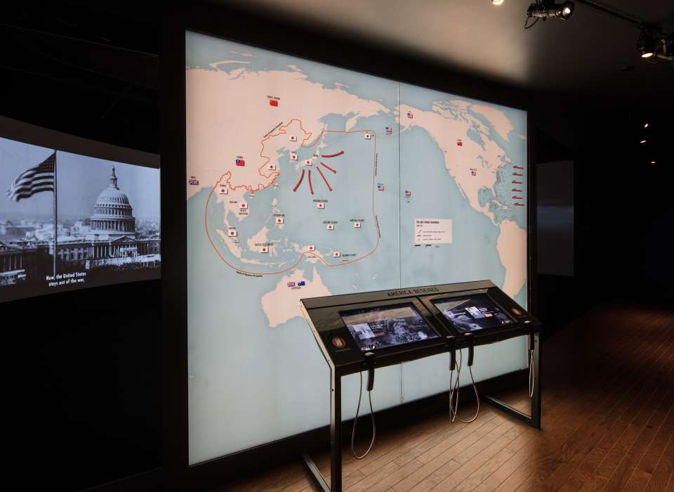 America Besieged gallery map wall, Arsenal of Democracy