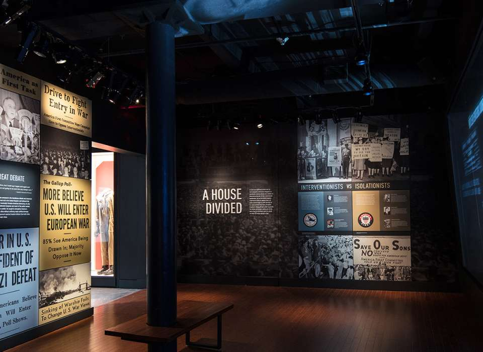 Discordant Voices gallery news headlines wall, Arsenal of Democracy