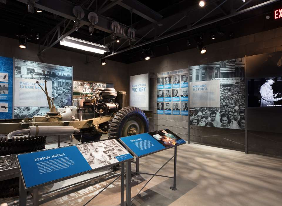 Manufacturing Victory gallery, General Motors display, Arsenal of Democracy