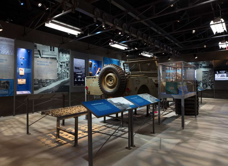 Manufacturing Victory gallery, Jeep on assembly line, Arsenal of Democracy