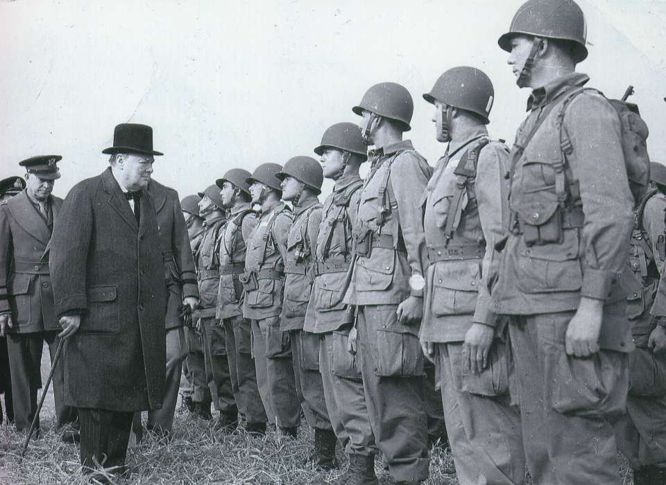 Churchill visiting the troops, WWII