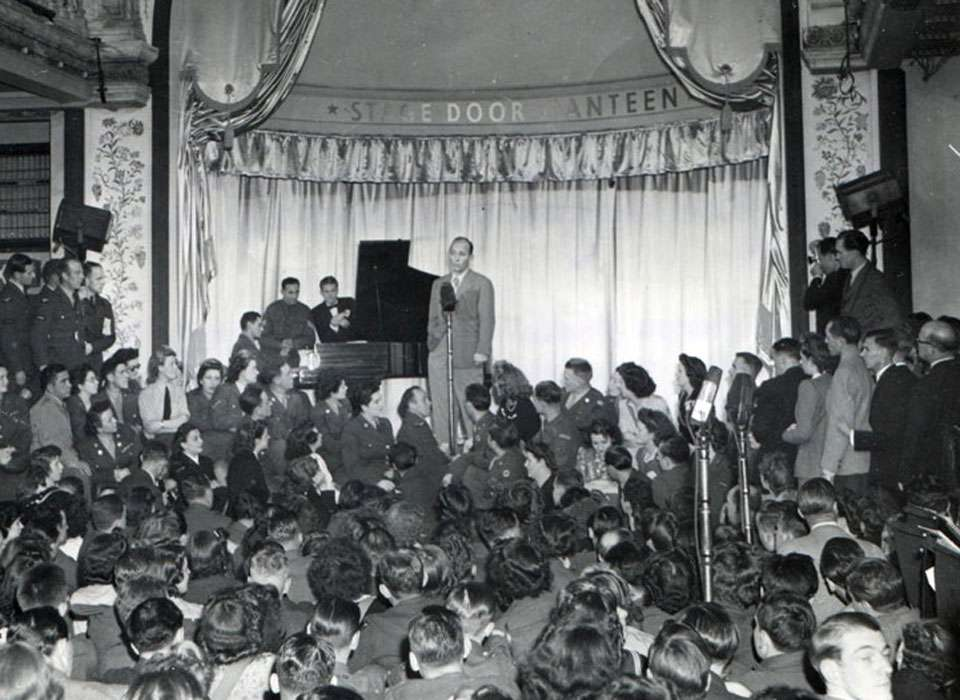 Bing Crosby at the Stage Door Canteen in NYC