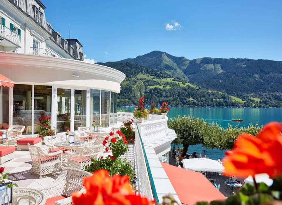 Grand Hotel Zell-Am-See, Austria, patio