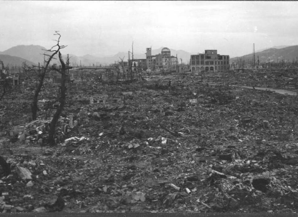 Atomic Nuclear Bomb Japan Nagasaki Fat Man World War 2 WWII Photo Picture