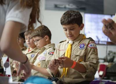 Boy Scout field trip to The National WWII Museum