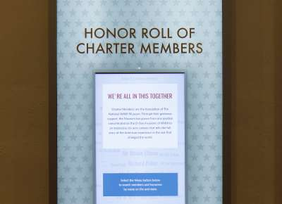 Honor Roll of Charter Members in the Donor Atrium